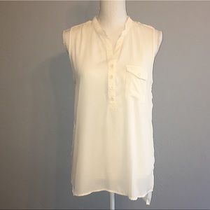 Forever 21 Sleeveless High Low Sheer blouse
